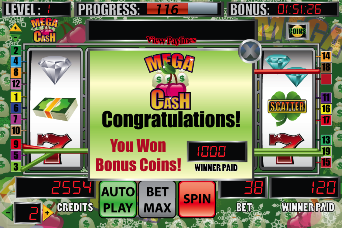 Mega Cash Slot Machine- screenshot