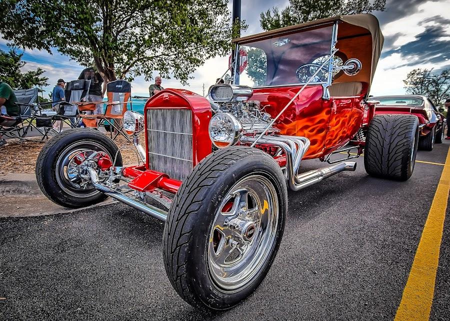 Flames by Ron Meyers - Transportation Automobiles ( 2014 tulsa auto club 7-15-2014 )
