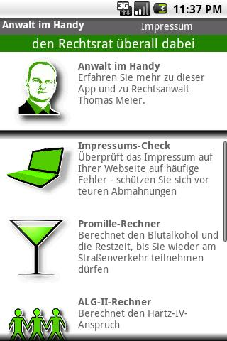 Anwalt im Handy - screenshot