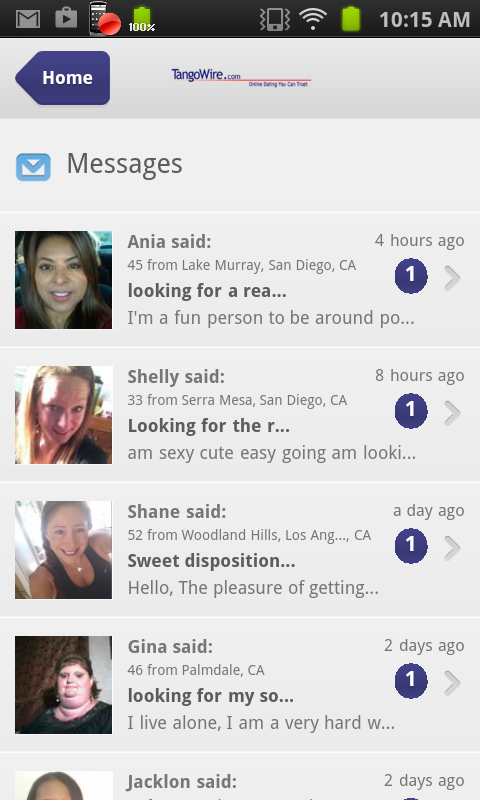 TangoWire Dating - screenshot