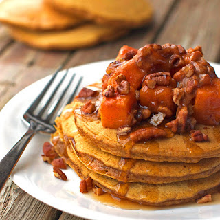 Butternut Squash Pecan Pancakes.