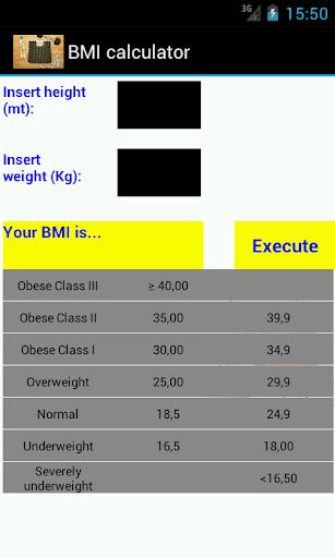 BMI Calcolatore