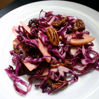 Red Cabbage Salad with Braeburn Apples and Spiced Pecans.