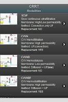 Screenshot of CRRT -extrarenal purification-