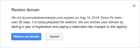 Oh no! example.com expired on Aug 14, 2014. Since It