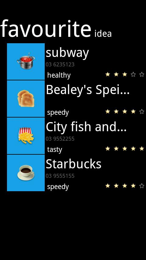 Dine Idea Light - screenshot