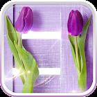 Purple Tulips Live Wallpaper icon