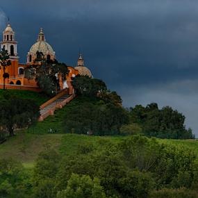 Cholula by Cristobal Garciaferro Rubio - City,  Street & Park  Vistas ( clouds, cholula, mexico, virgen de los remedios, puebla mexico, cloudscape, storm )