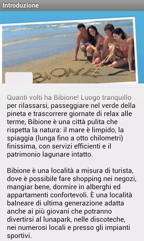 Bibione Official Guide 2014 - screenshot