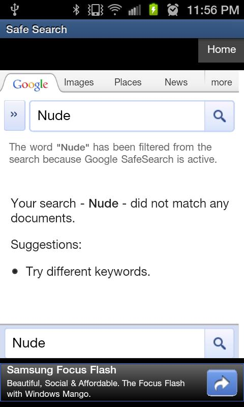 Safe Search - screenshot
