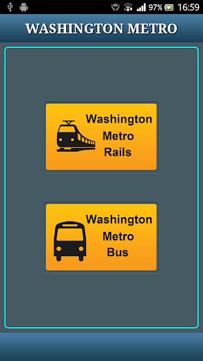 Washington DC Metro RAIL BUS