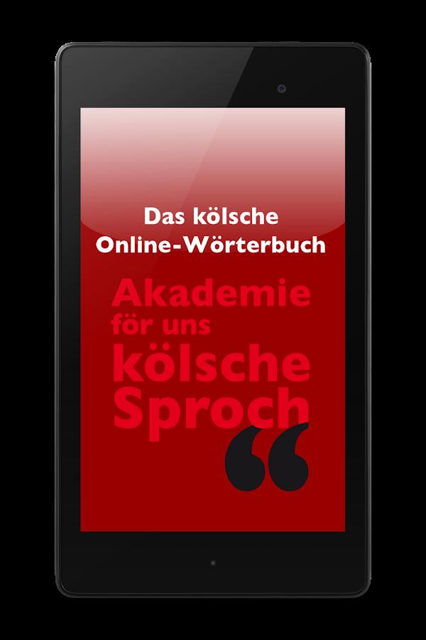 Das Kölsche Online-Wörterbuch - screenshot