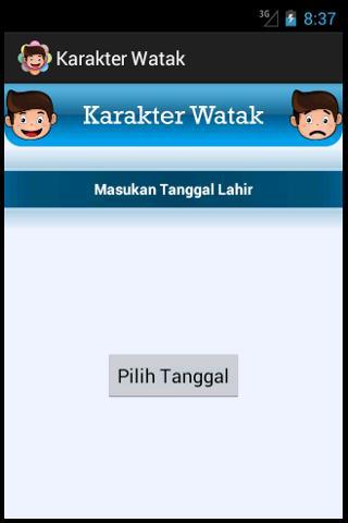 Karakter Watak- screenshot