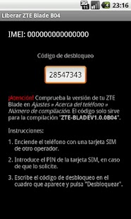 Unlock ZTE Blade B04 - screenshot thumbnail