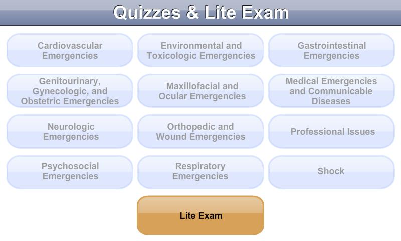 Mosby's CEN® Exam Prep Lite - screenshot