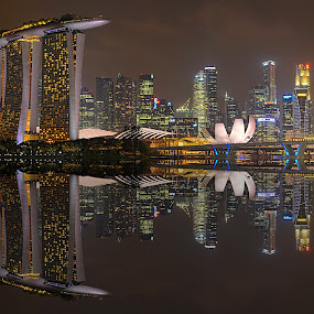 Mirror City by Kafoor Sammil - City,  Street & Park  Skylines ( mbs, mirror city, singapore )