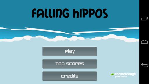 Falling hippos