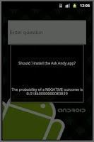 Screenshot of Ask Andy