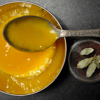 Mango Sauce with Cardamom and Saffron.