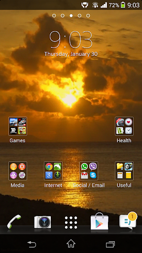 Ocean Sunset HD Live Wallpaper