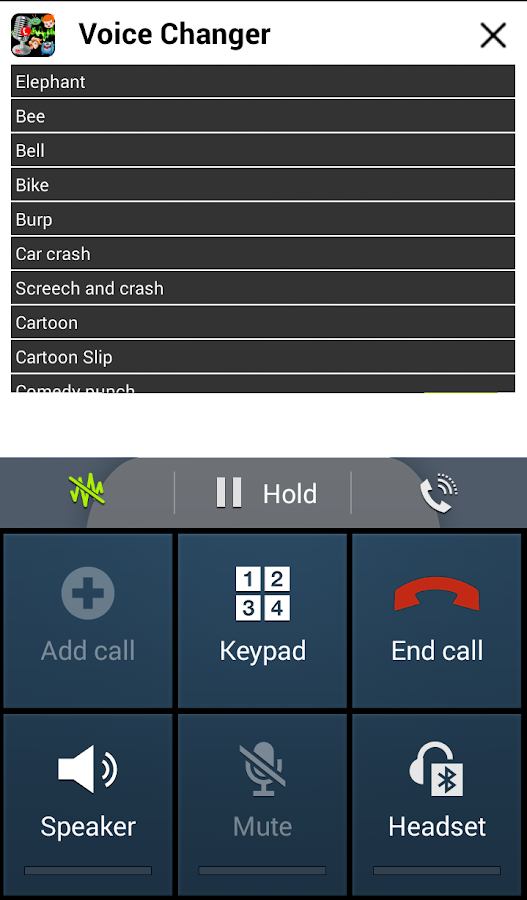 Play Voice Changer During Call- screenshot