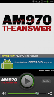 AM 970 The Answer - screenshot thumbnail