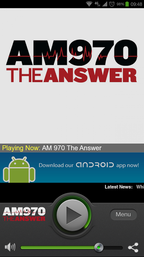 AM 970 The Answer - screenshot