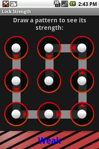 Lock Pattern Strength - screenshot