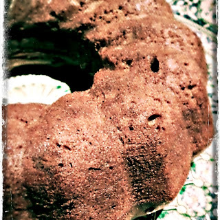 Chocolate Bundt Cake with Chestnut Cream.