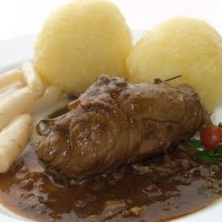 German Rouladen / Beef Roll-Ups.