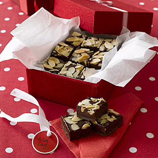 Chocolate-Almond Fudge Squares