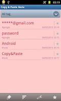 Screenshot of Copy&Paste Note