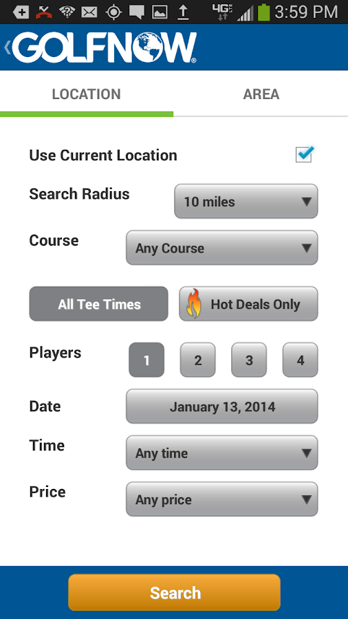 GolfNow - screenshot