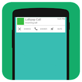 Lollipop Call - Call Screen