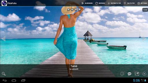 برنامج معرض الصور السريع FlickFolio for Flickr HD v2.16.6 للاندرويد