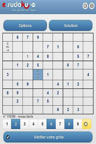 e-sudoku.fr - screenshot