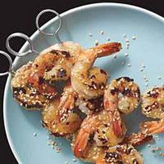 Grilled Wasabi-Honey Shrimp