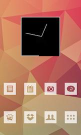 MNML White Theme Go/Nova/Apex Screenshot 1