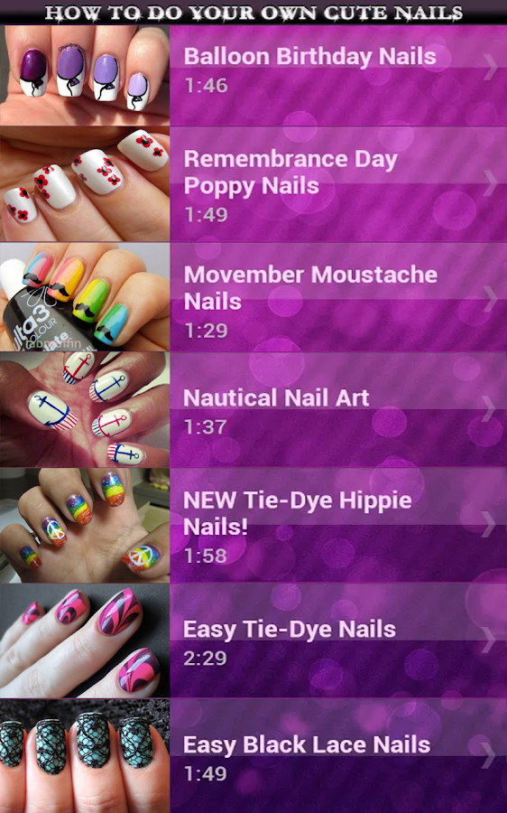 How to Do Your Own Cute Nails - screenshot