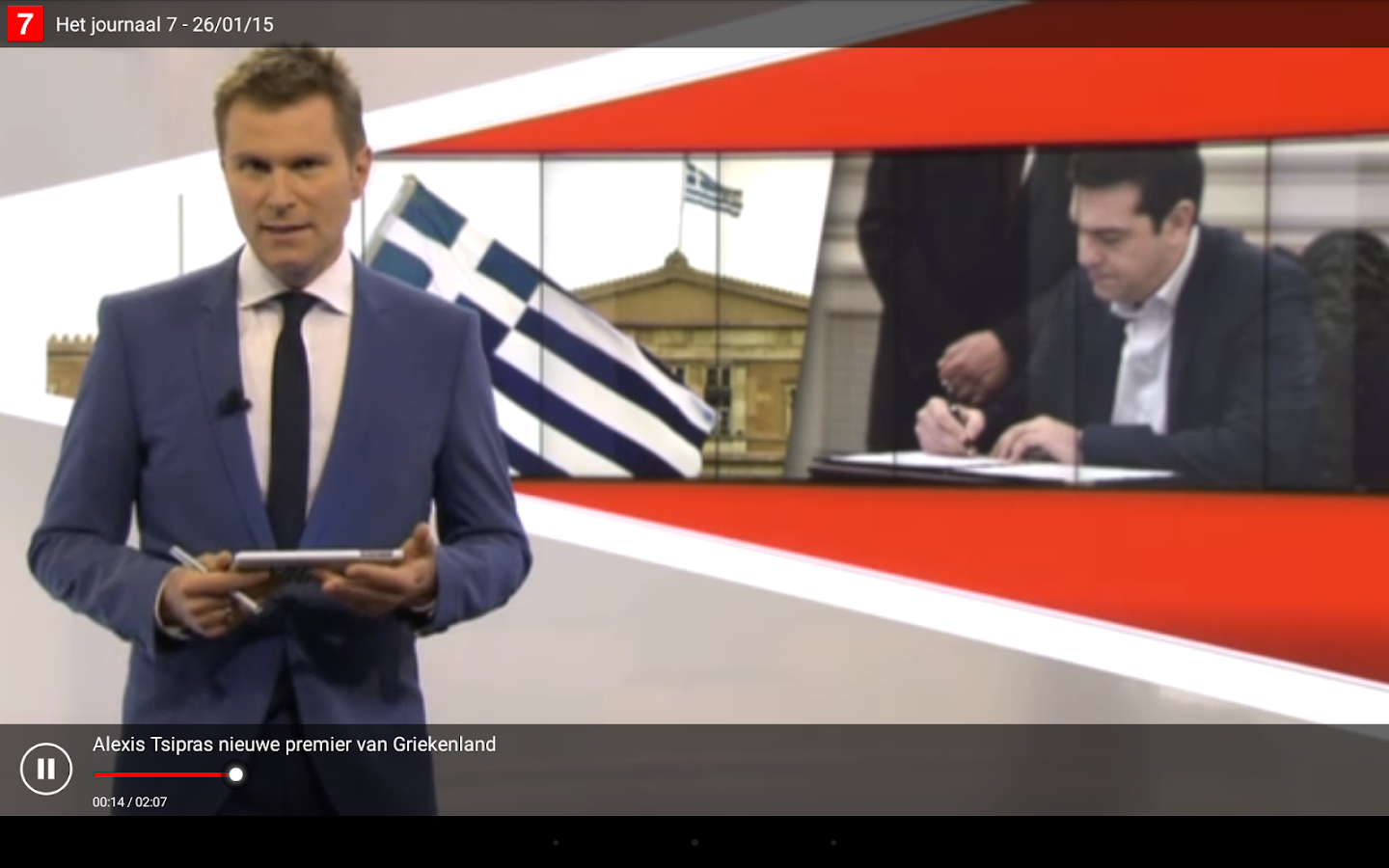 VRT Journaal- screenshot