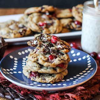 Double Cranberry Chocolate Chunk Cookies.