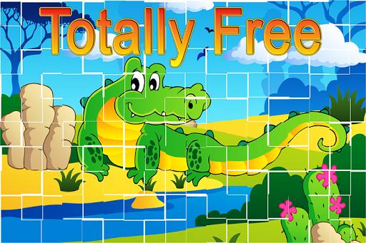 森の動物のパズルゲーム