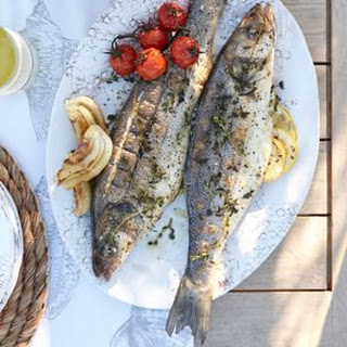 Grilled Whole Branzino with Lemon and Garlic