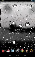 Screenshot of Drops of Rain on Glass