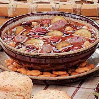 Kielbasa Bean Soup.