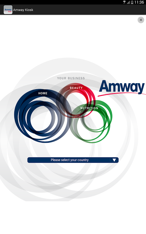 Amway Kiosk Europe and Russia- screenshot