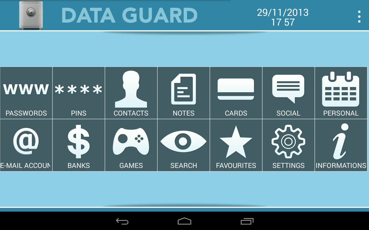 Data Guard Lite - screenshot