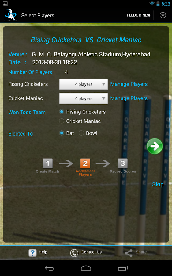 SquareDrive – Capture Cricket - screenshot