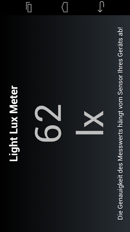 Light Lux Meter - screenshot
