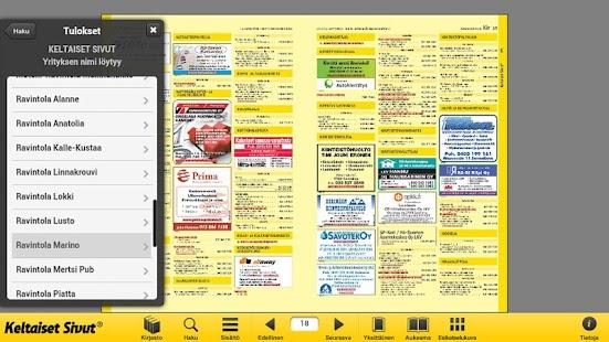 Keltaiset Sivut- screenshot thumbnail